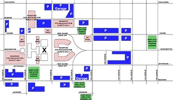 Inauguration Employee Parking Map
