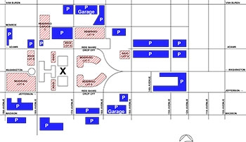 Inauguration Public Parking Map